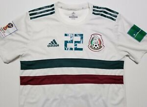 Mexico Hirving Lozano 2018 World Cup Adidas ClimaChill Authentic Medium Jersey