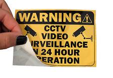 2 X CCTV Sticker Decal sign security surveillance warning notice camera monitor