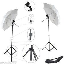 2x Kit Studio Foto Video Cavalletto Stativo, Portalampada, Ombrello x Luci Flash