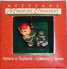 """Hallmark Miniature 1988 """"KITTENS IN TOYLAND""""  Ornament  New in Box"""