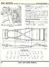 1938 DeSoto Model S5 NOS Frame Dimensions Align Specs