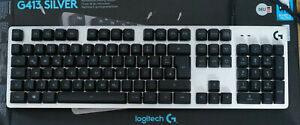 Logitech G413 Silver mechanische Gaming- Tastatur
