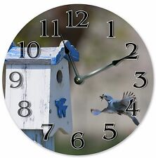 "10.5"" MOUNTAIN BLUE BIRD CLOCK - Large 10.5"" Wall Clock - Home Décor Clock- 3021"