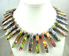 Beautiful Multicolor Sea Sediment Jasper &agate Handmade Gem Jewellery Necklace