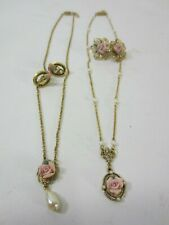 1928 Brand Jewelry- Rose Themed Necklaces and Earrings