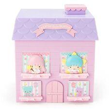 Little Twin Stars House shaped plastic chest Kawaii Sanrio f/s Japan New!
