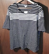 Ink & White striped Cotton/Elastine new with tags T-shirt size 22