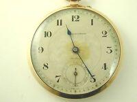 Collingwood pocket watch vintage 9 carat gold slim line dated 1931 47.8 grams