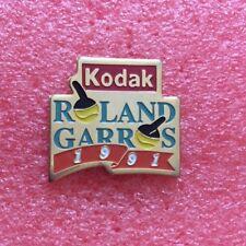 Pins SPORT TENNIS Roland Garros 1991 Sponsor KODAK