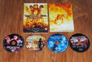 Resident Evil Trilogy DVD 4 Disc Box Set Milla Jovovich FREE UK Postage