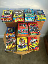 Topps Football Wax Box Run 1977 1978 1979 1980 1981 1982 1983 1984 1985 1986
