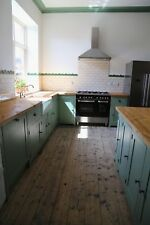 Bespoke, Solid Wood, Handmade Country Kitchen Cabinet Unit with Pine Worktop