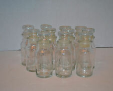 Glass Spice Jars- Set of Eleven 11 Glass Spice Bottles Unused Vintage