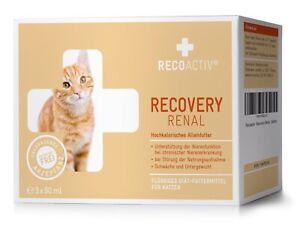 RECOACTIV® RECOVERY Renal Katze Kurpackung 3 Flaschen a 90 ml (12,19€/100ml)