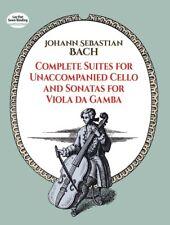 """BACH """"COMPLETE SUITES FOR UNACCOMPANIED CELLO & Sonatas for Viola Da Gamba"""" BOOK"""