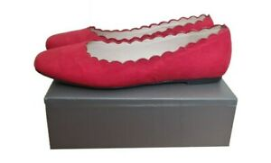 MONSOON Shoes Size 4 Red Ballet Shoes Flats Casual Evening Everyday Summer
