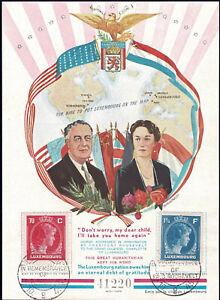 Luxemburg Luxembourg 1945 Gedenkblock Befreiung Charlotte-President Roosevelt