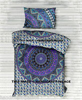 Indian Duvet Doona Quilt Cover Set Comforter Mandala Hippie Boho with Pillow