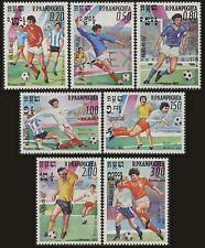 CAMBODGE Kampuchea N°522/528** Football 1985, CAMBODIA Soccer Sc#552-558  MNH