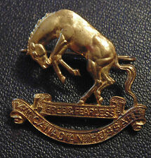 CANADA  military Armed Forces 14th Canadian Light Horse Hussars brass cap badge