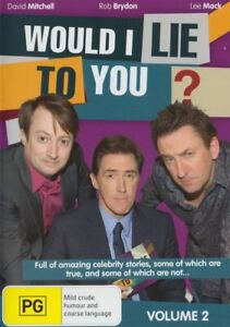 Would I Lie To You - Volume 2 - DVD 2 Disc Set - David Mitchell - Rob Brydon