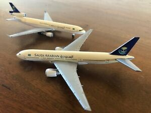 Herpa Wings Saudia Arabian Airlines MD-11F and B777-200 1:500 Scale