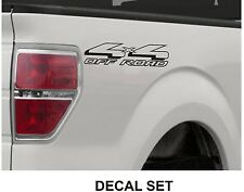 4x4 Off Road Truck Bed Decals, Black (Set) for Ford F-150 and Super Duty