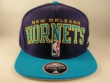 New Orleans Hornets NBA Adidas Draft Cap Snapback Hat Purple Teal