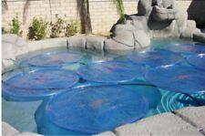 6 Pack Blue Solar Sun Rings® Swimming Pool Heater Cover Blanket SSRA-101 Anchors