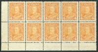 CANADA #220 MINT VF PLATE BLOCK OF 10