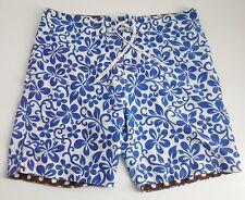 "PARKE & RONEN Men's Blue Floral Print Swim Trunks Board Shorts Sz 30 (7"" Inseam)"