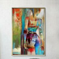 Sexy Woman Abstract Hand-painted Oil Painting Home Decor On Canvas Wall No Frame