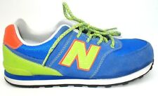 New Balance 574 Blue Neon Green Casual Walking Sneaker Shoes Mens Sz 6M