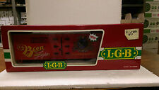 LGB G Scale 4472 Box Car- Lake George&Boulder Brewing Co.