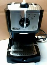 DeLonghi EC155  Espresso Machine Black With Frother and Built in Tamper - Black