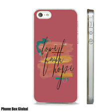 NEW LOVE FAITH AND HOPE QUOTE CASE FITS  IPHONE 4 4S 5 5S 5C 6 6S 7 8 SE PLUS X