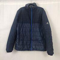 Adidas Climastorm Blue Padded Zip Up Jacket Coat UK Size Large