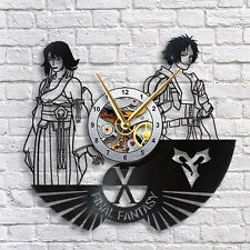 Final Fantasy X Tidus & Yuna Vinyl LP Record Wall Clock