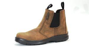 Aboutblu 03LA S3 SRC B-Light Brown Safety Work Boots 19371 Size UK 4 / EUR 37