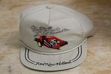 VINTAGE NEW HOLLAND MACHINE CO FORD COMBINE HAT TRUCKERS CAP BRAIDED K-BRAND USA