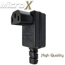 4 x Right Angle C13 IEC Rewireable Heavy Duty Female Inline Socket Plug 10A 250V