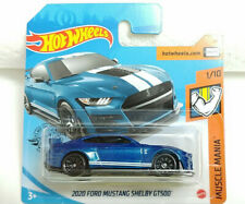 2020 Ford Mustang Shelby Gt500 2020 Hot Wheels Short Card 248/250 Blue New E8
