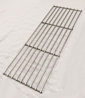 Stainless Steel Charcoal Gas BBQ Grill Approx 15.5cm x 44.5cm