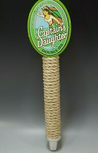 CAPTAIN'S DAUGHTER BREWING LAGER BEER TAP HANDLE VINTAGE ADVERTISEMENT