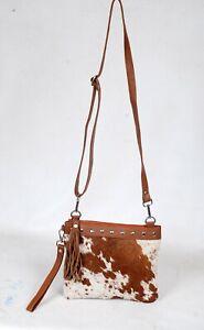 Real Cowhide Cross body Purse Handbag & Shoulder Bag Clutch Cow Leather SB-6948