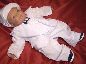 Taufanzug Smoking Weiß*Festanzug Blumenkind Taufe* Kinderanzug Set Junge