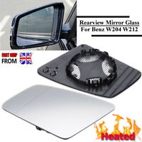 Left+Right Side White Heated Wing Mirror Glass for MERCEDES E-Class W212 UK