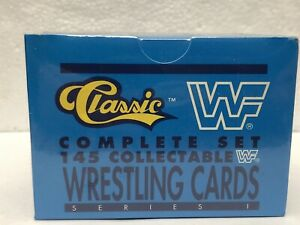 1990 CLASSIC COMPLETE SET 145 WWF COLLECTABLE WRESTLING CARDS SERIES 1 SEALED