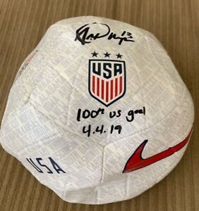 RARE Alex Morgan Signed 100th goal Inscribed USA Women's World Cup Nike Fanatics