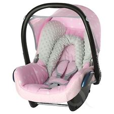 Replacement Seat Cover fits Maxi Cosi CabrioFix 0+ FULL SET cotton-pink-SM stars